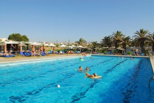 Creta Beach swimming pool day time